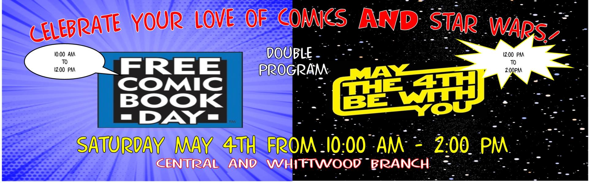 May 4th Free Comic Book Day @ 10:00 a.m.-2:00 p.m.