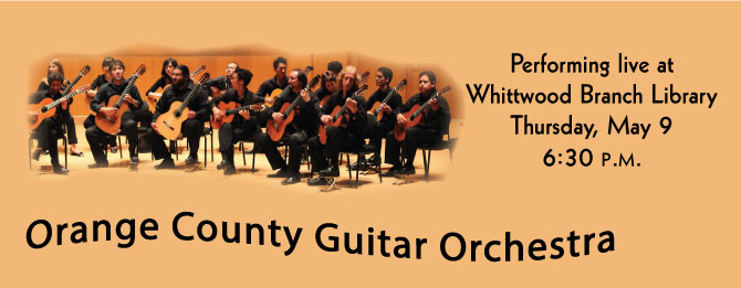 Orange-County-Guitar-Orchestra, May 9 @ 6:30 Whittwood Branch