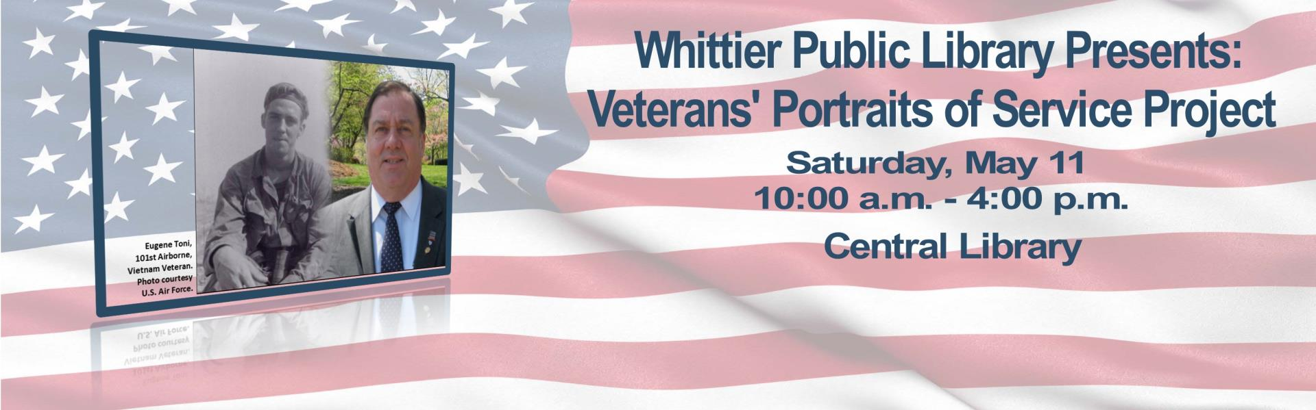 Veterans' Portraits of Service Project- Saturday, May 11  10:00 A.M. - 4:00 P.M.
