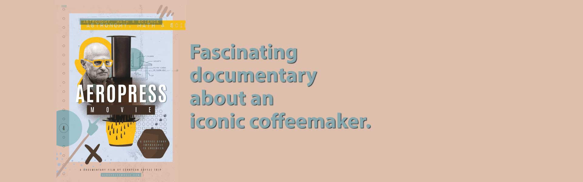 AeroPress-film Fascinating documentary about an iconic coffeemaker. Image of the inventor and Aeropress